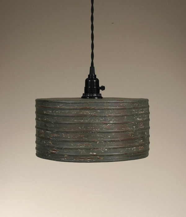 Round Pendant Lamp - Textured Grey