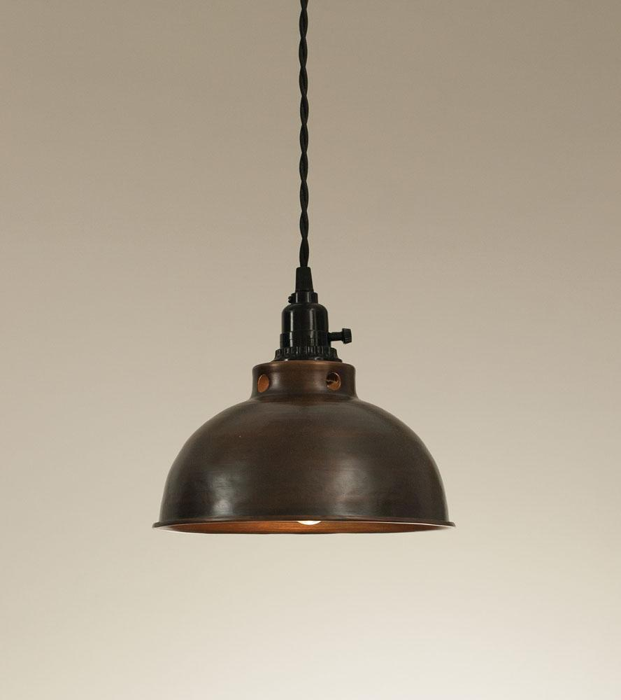 Dome Pendant Lamp - Aged Copper