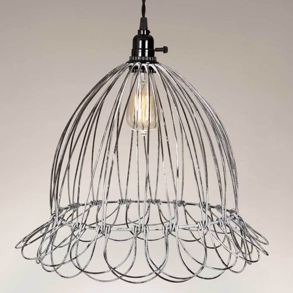 Wire Scallop Dome Pendant Lamp