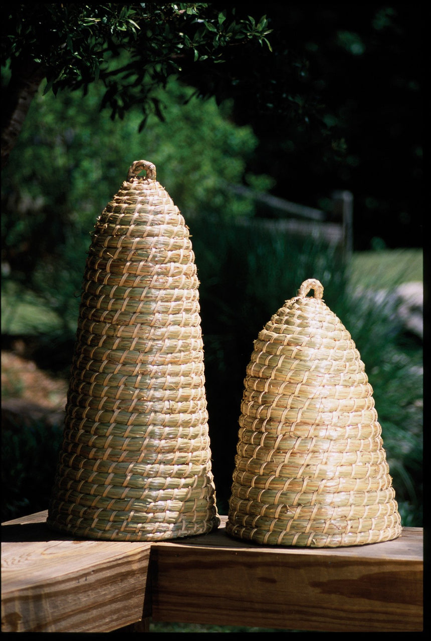 Set Of 2 Extra Tall Bee Skeps