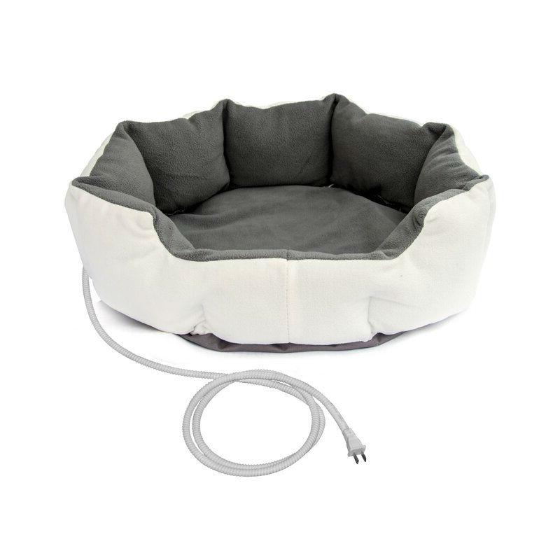 Heated 19-inch Small Dog or Cat Bed with 6ft Electric Cord