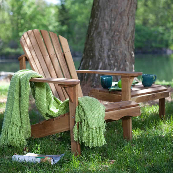 Solid Oak Wood Adirondack Chair with Linseed Oil Finish