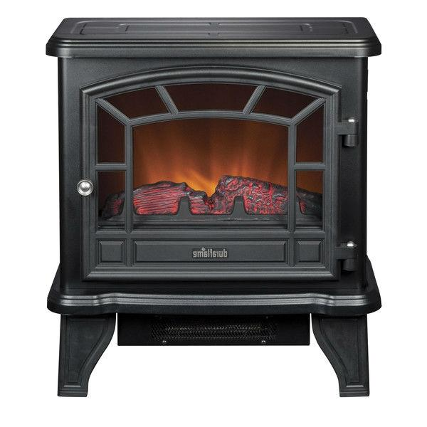 Traditional Style Black Metal 400-Square Foot Electric Fireplace