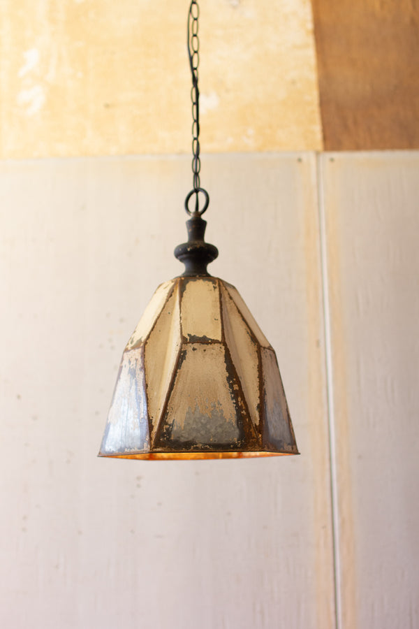 Metal Geometric Pendant Light
