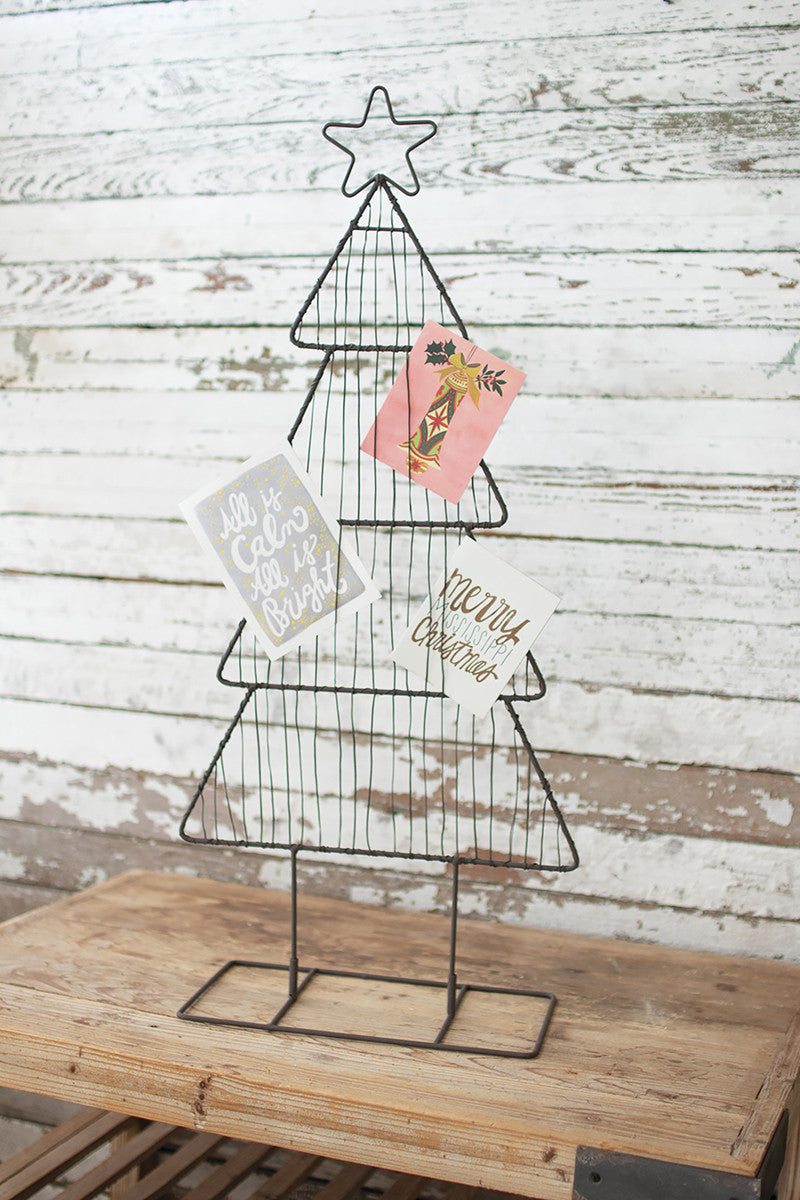 Metal Tree Christmas Card Holder Without Clips