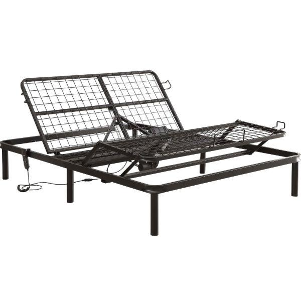 Full size Sturdy Black Metal Adjustable Bed Base with Remote