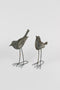 Set Of 2 Metal Birds - Rustic Grey