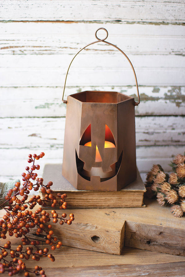 Copper Finish Jack-O-Lantern