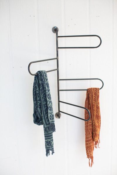 Rotating Wall Towel Bars