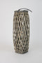 Tall Oval Grey Willow Lantern - Large