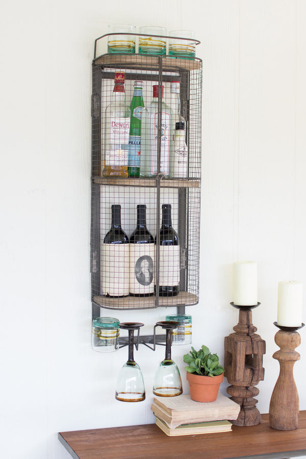 Wire Bar Storage Cabinet - Hearts Attic