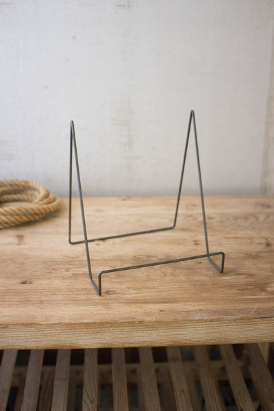 Set Of 6 Wire Easels With Raw Metal Finish - Large