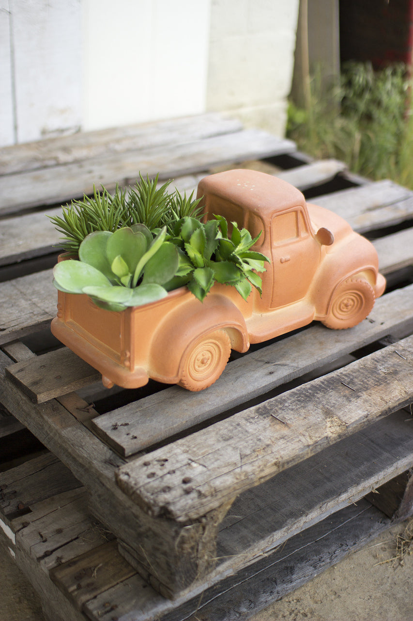 Terracotta Truck Planter - Hearts Attic