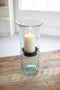 Mini Glass Candle Cylinders With Rustic Insert - Large