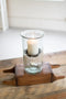 Mini Glass Candle Cylinders With Rustic Insert - Medium