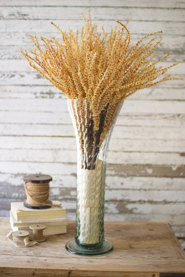 Textured Glass Trumpet Vase