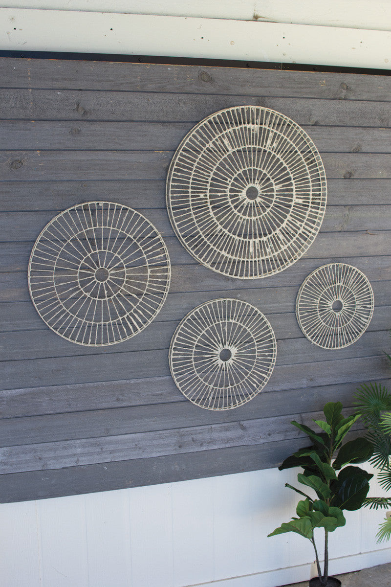 Set of 4 Hand Made Paper Discs Wall Art
