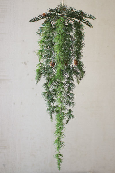 Set Of 6 Hanging Pines With Cones