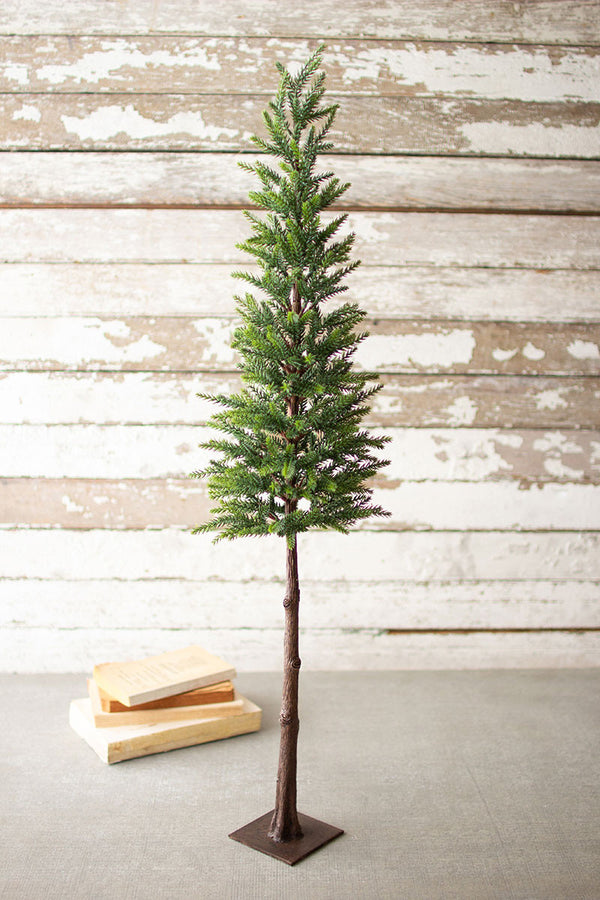 "Artificial Pine Christmas Tree With Iron Base - 37""T"