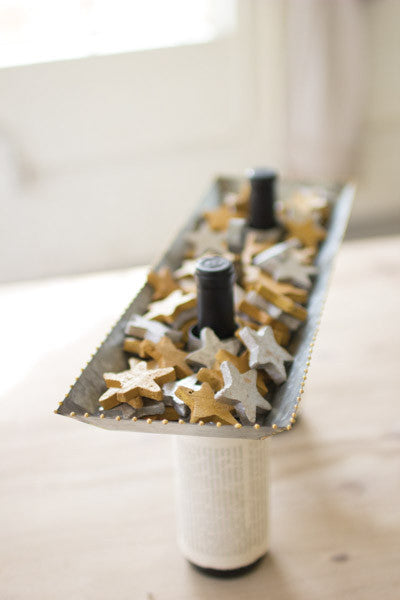 Gold & Silver Clay Stars - Bag Of 75