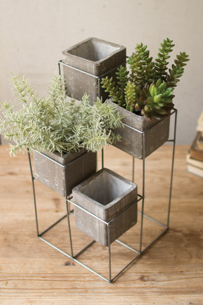 Planter Tower With 4 Square Planters