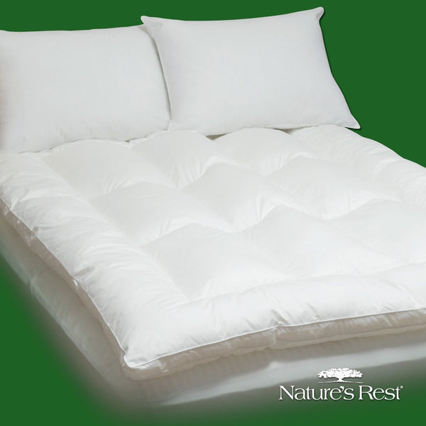 King size Fiber Bed Mattress Pad Topper in 100-Percent Cotton