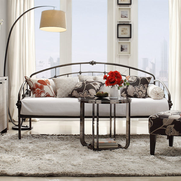 Twin Metal Daybed in Antique Dark Bronze Finish