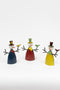 Set Of 3 Recycled Metal Snowmen