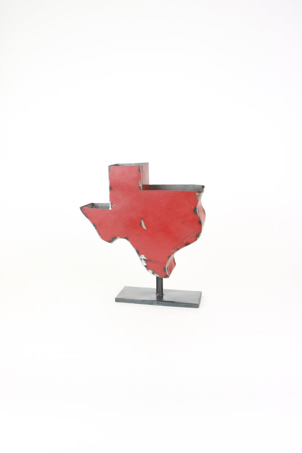 Recycled Iron Texas Planter On An Iron Base