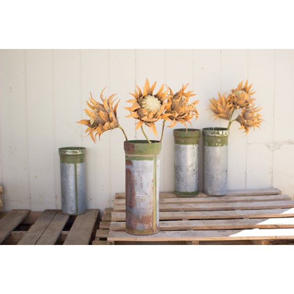 Set of 2 Reclaimed Ammunition Canisters