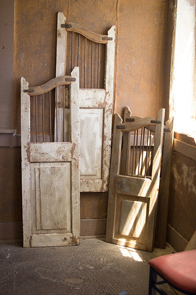 Set of 2 Repurposed Matching Wood & Iron Saloon Doors