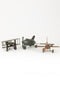 Set of 3 Metal Airplanes