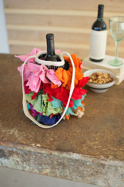 Shaggy Rag Wine Bags - Set Of 6