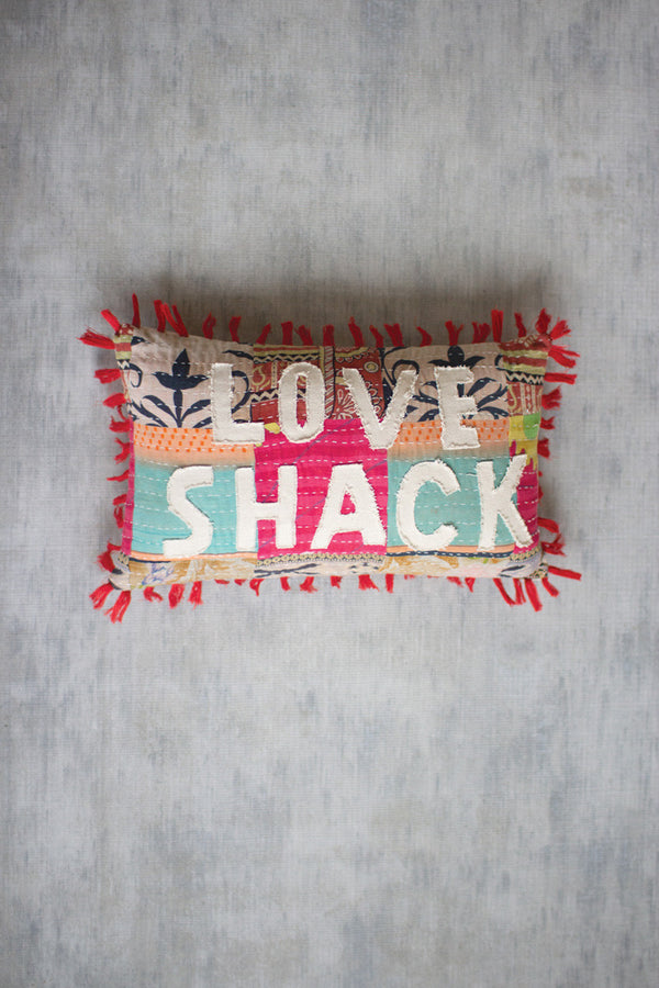 Love Shack Kantha Pillow