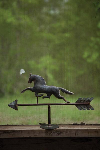 Table Top Galvanized Horse Weathervane