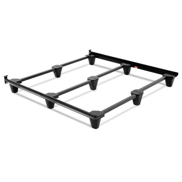 Adjustable Heavy Duty Metal Bed Frame in Charcoal Finish