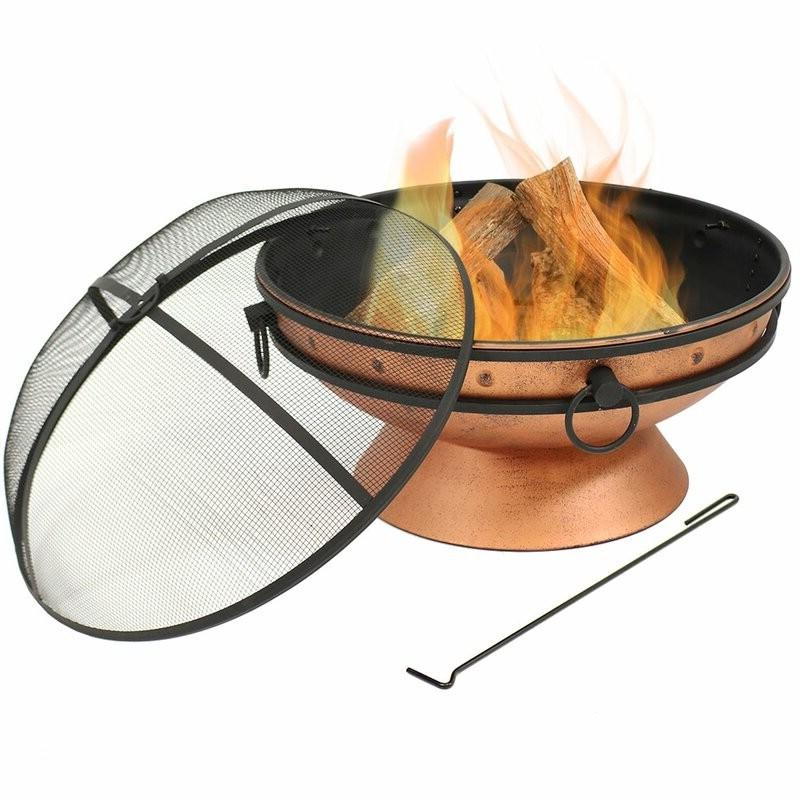 Cauldron Steel Wood Burning Fire Pit with Spark Screen
