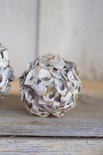 Oyster Shell Sphere - Small