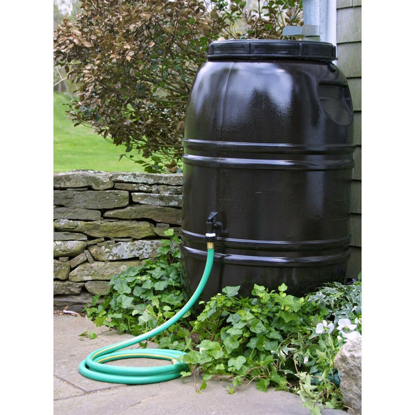 60-Gallon Rain Barrel In Earth Brown Food Grade Plastic