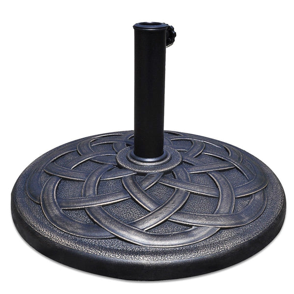 Round Bronze Finish Heavy Duty Outdoor Umbrella Base Stand
