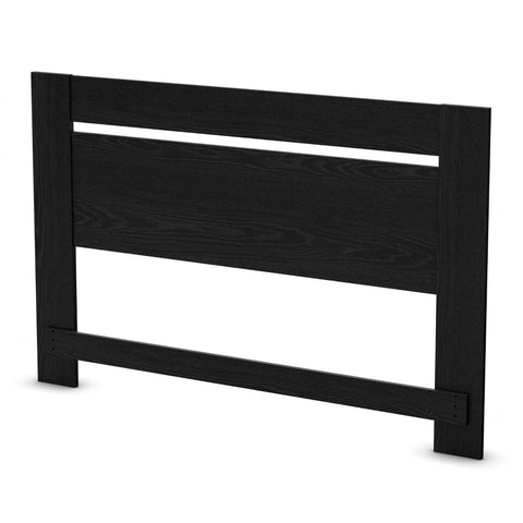 Full / Queen Size Contemporary Headboard In Black Oak Finish