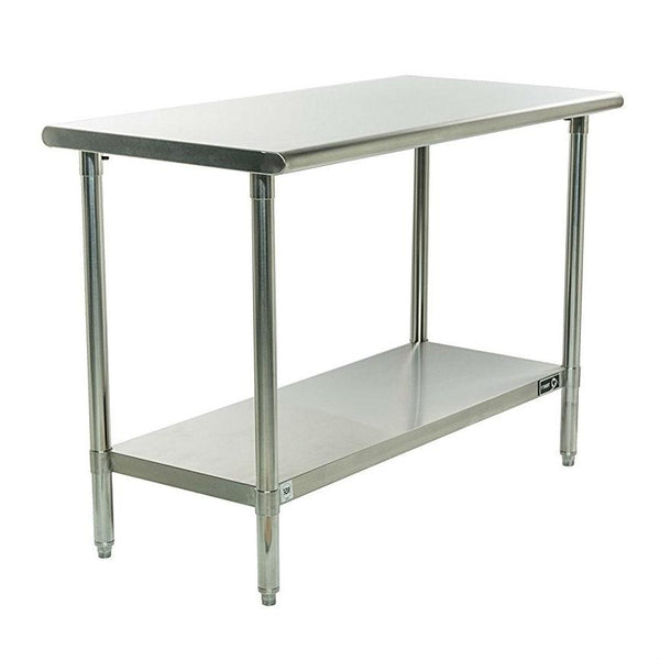 Stainless Steel Top Prep Table Utility Work Bench with Adjustable Shelf