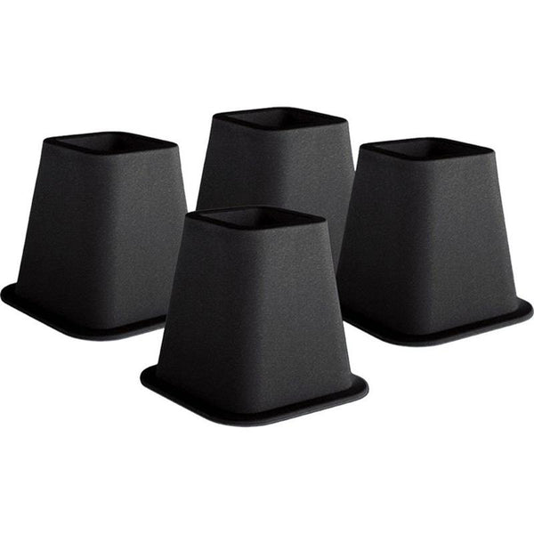 6-inch High Bed Risers in Black - 4-Pack