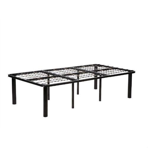 Twin Size 8-Leg Metal Platform Bed Frame - No Box-Spring Necessary