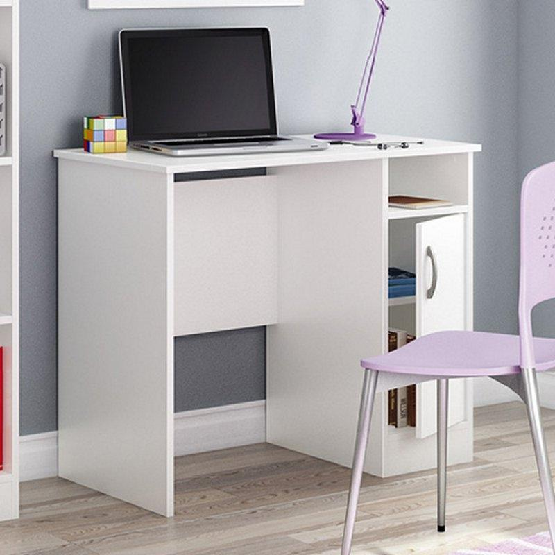 White Computer Desk - Great For Small Home Office Space