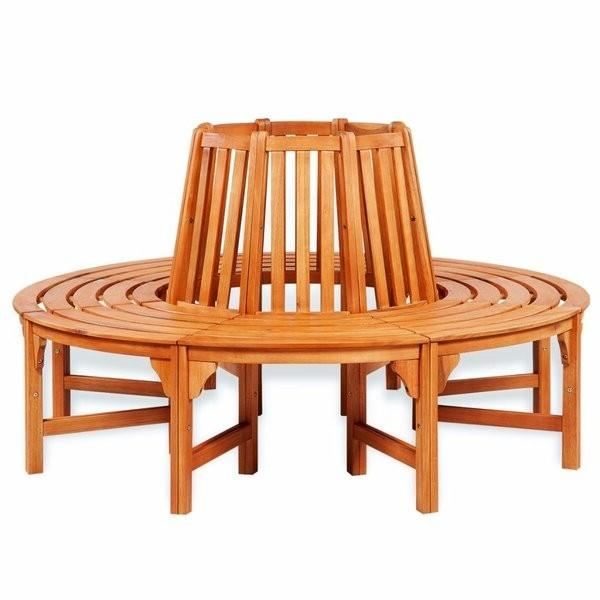 Hexagonal Full Circle Tree Bench in Weather Resistant Eucalyptus