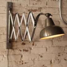 Raw Metal Scissor Wall Lamp - Hearts Attic