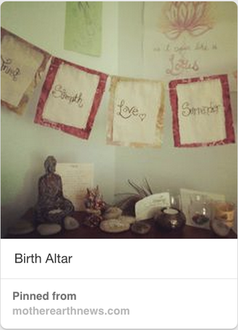 theme altar, birth