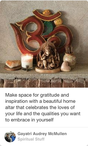beautiful little altar, sacred space