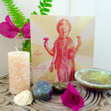 Lakshmi Wood Print: Blessings of Abundance, Love, Beauty